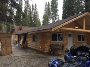 Bragg Creek Log Home Exterior