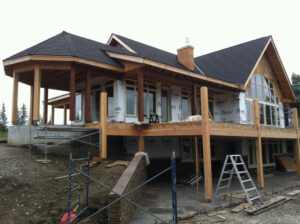 Priddis exterior stayining project