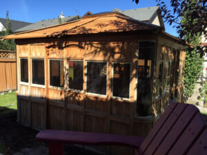 Outdoor Gazebo Staining Calgary