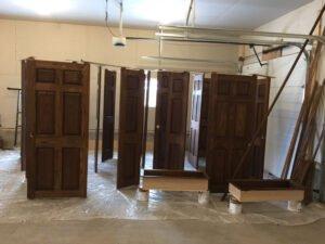 Custom Door Trim Staining & Lacquering in Okotoks, AB.